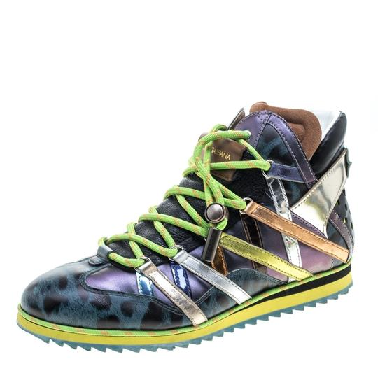 Preload https://img-static.tradesy.com/item/24136936/dolce-and-gabbana-multicolor-contrast-leather-high-top-sneakers-sneakers-size-eu-41-approx-us-11-reg-0-0-540-540.jpg