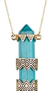 House of Harlow 1960 Prana Turquoise Pendant Necklace