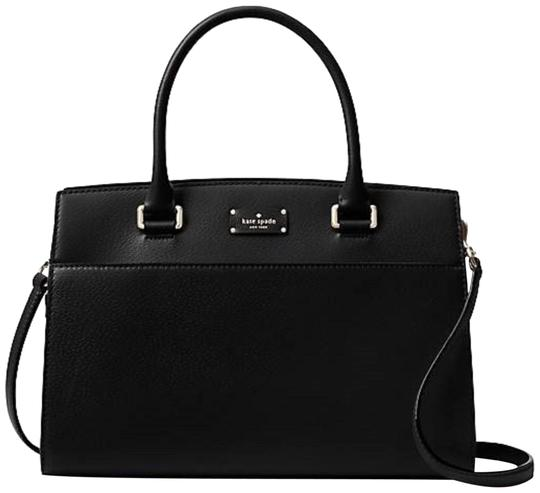 Preload https://img-static.tradesy.com/item/24136975/kate-spade-grove-street-black-leather-satchel-0-1-540-540.jpg