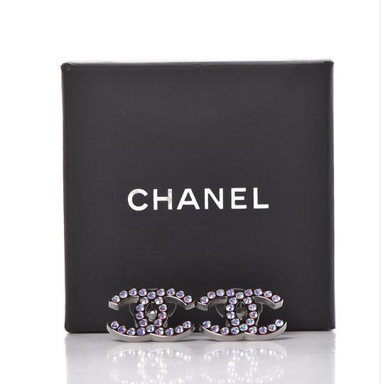 Chanel CHANEL Iridescent Crystal CC Earrings Multicolor