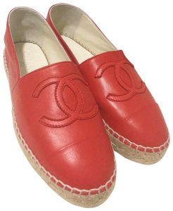 Chanel Red Flats