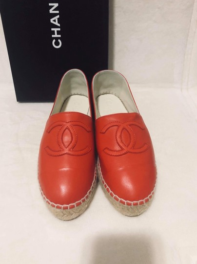 Chanel Red Flats Image 1