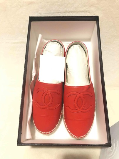 Chanel Red Flats Image 2