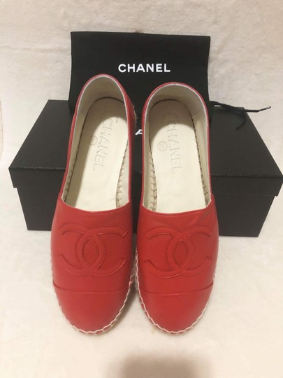 Chanel Red Flats Image 4
