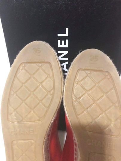 Chanel Red Flats Image 6