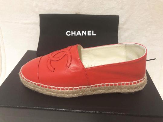 Chanel Red Flats Image 7