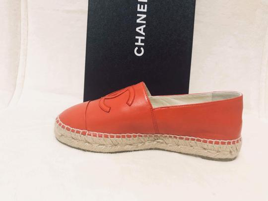 Chanel Red Flats Image 9