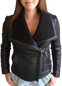 Wyatt black Leather Jacket