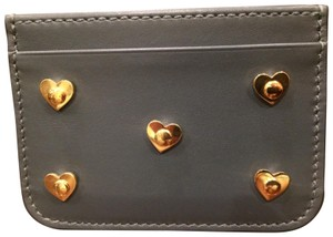 Sophie Hulme Sophie Hulme grey gold heart studded card holder NWT