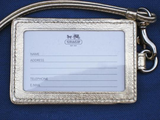 Coach Coach Butterfly Signature Id Card Lanyard Tag Employee Badge Holder Image 1