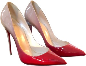 Christian Louboutin red and nude Pumps
