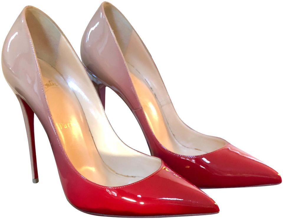 7549c1a38b7 Christian Louboutin Red and Nude So Kate Ombré Pumps Size US 9.5 ...
