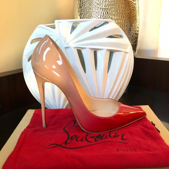 Christian Louboutin red and nude Pumps Image 1