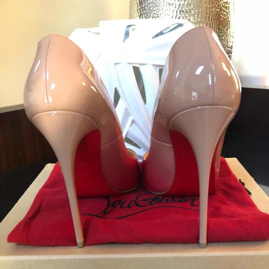 Christian Louboutin red and nude Pumps Image 3