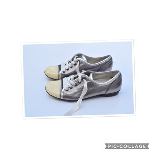 Gabor cream & pewter Flats