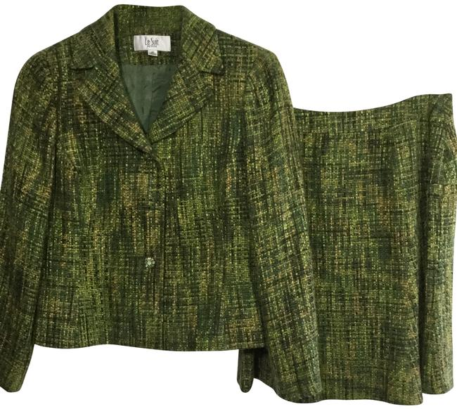 Item - Green Skirt Suit Size Petite 4 (S)