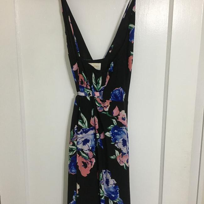 Black with blue and pink flower print Maxi Dress by Yumi Kim Image 1