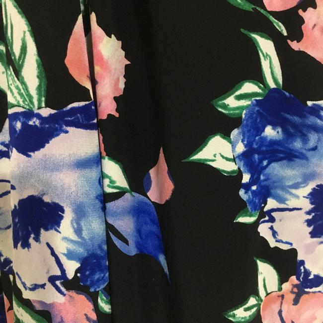 Black with blue and pink flower print Maxi Dress by Yumi Kim Image 3