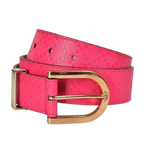 Gucci Women/Men Diamante Leather W/Gold Buckle Size 34 Belt