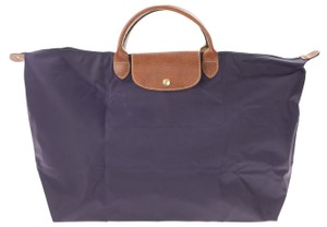 67e5d6616ddd Longchamp Weekender Purse French Tote in Purple. Longchamp Le Pliage  Weekender Purple Canvas Tote