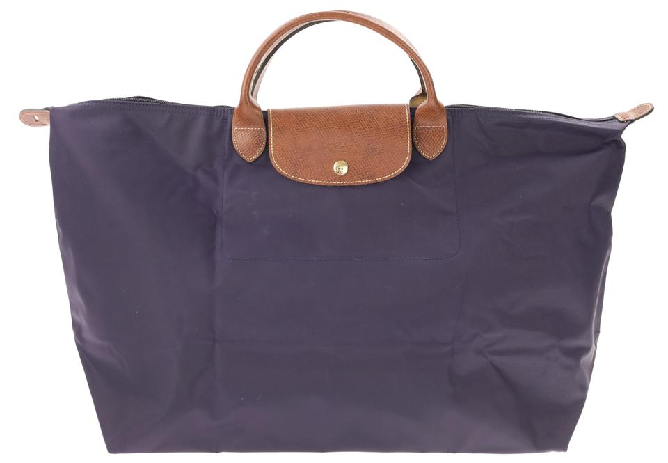 c6186bf50f68 Longchamp Le Pliage Weekender Purple Canvas Tote - Tradesy