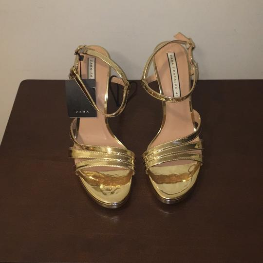 Zara Gold Sandals Image 1