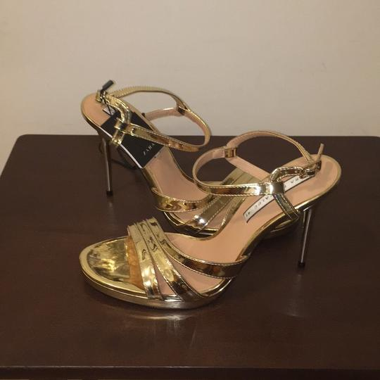 Zara Gold Sandals Image 10