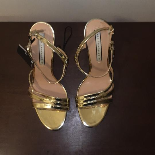 Zara Gold Sandals Image 2
