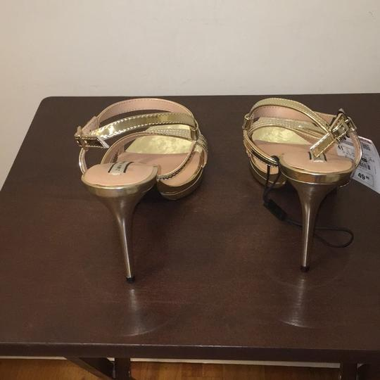 Zara Gold Sandals Image 3