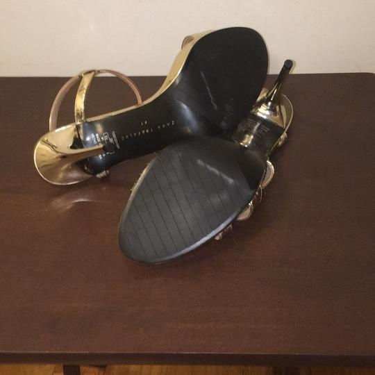 Zara Gold Sandals Image 4