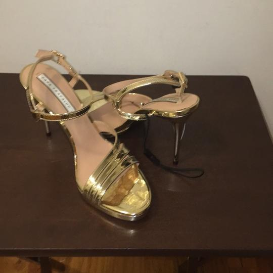 Zara Gold Sandals Image 5