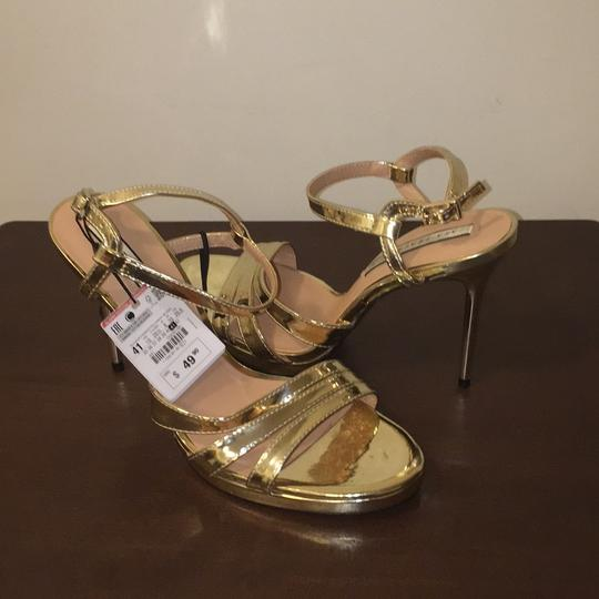 Zara Gold Sandals Image 6