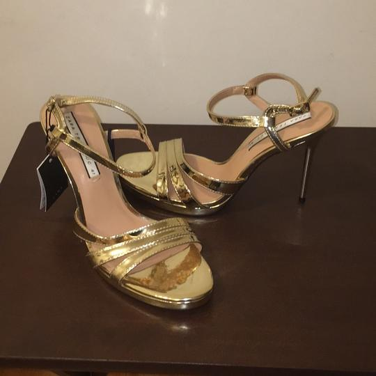 Zara Gold Sandals Image 7