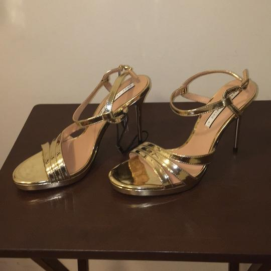 Zara Gold Sandals Image 8