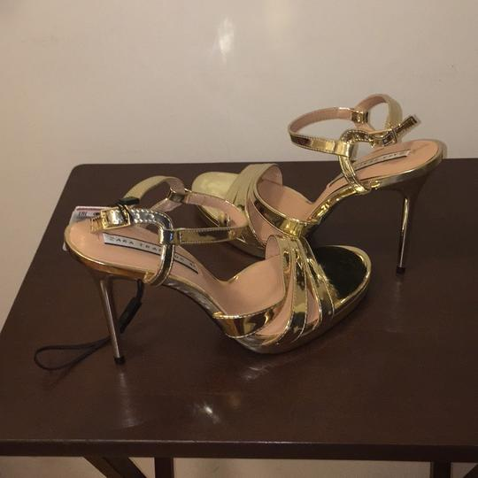 Zara Gold Sandals Image 9