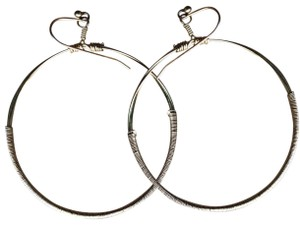 Banana Republic Banana Republic Gold Wrapped Metal Hoop Earrings