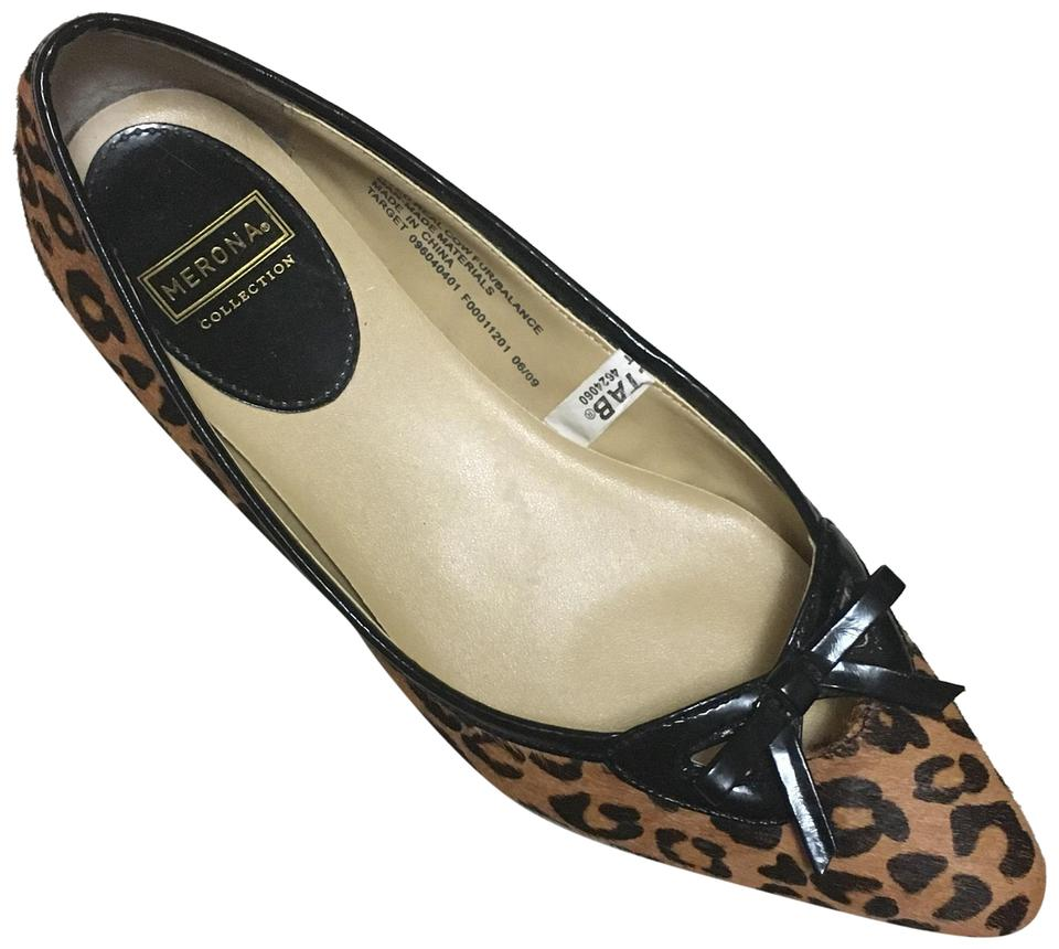 a7585edac5f Merona Black Gold and Brown Leopard Pony Hair Flats Size US 6 ...