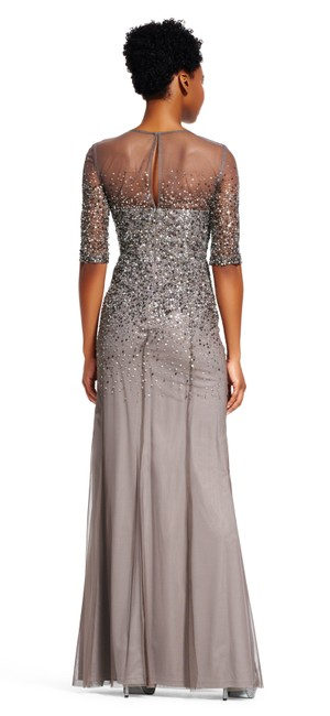 Adrianna Papell Sequin Beaded Dress Image 1
