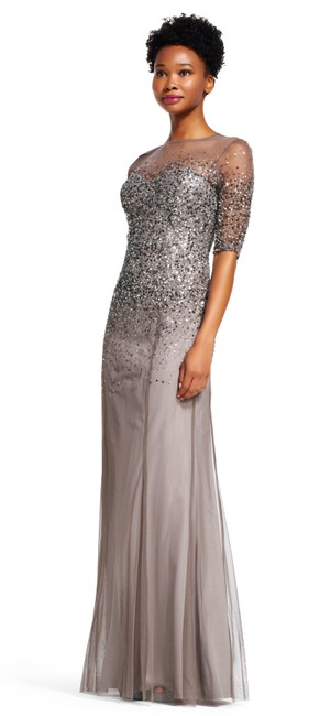 Adrianna Papell Sequin Beaded Dress Image 2