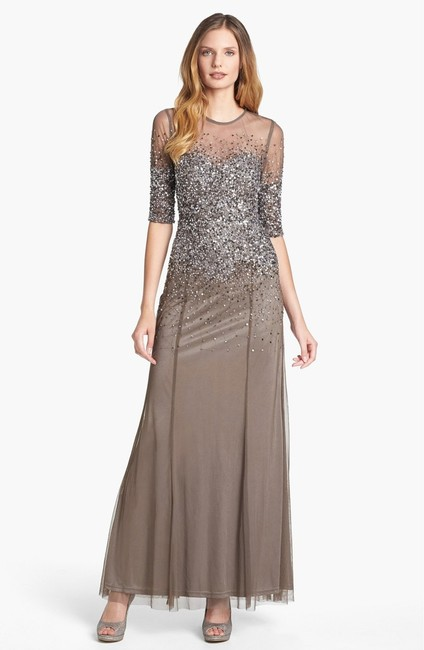 Adrianna Papell Sequin Beaded Dress Image 3
