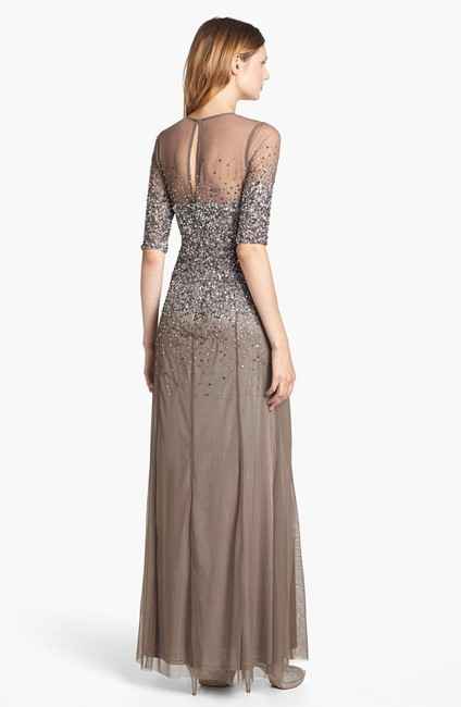 Adrianna Papell Sequin Beaded Dress Image 4