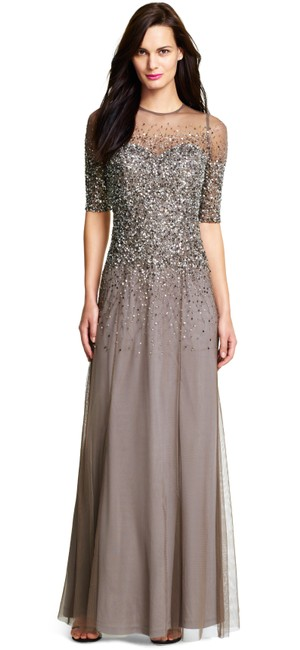 Adrianna Papell Sequin Beaded Dress Image 5