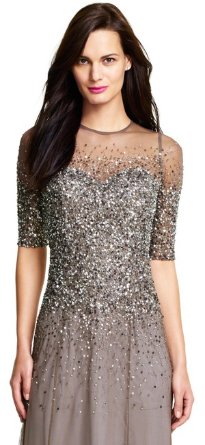 Adrianna Papell Sequin Beaded Dress Image 7
