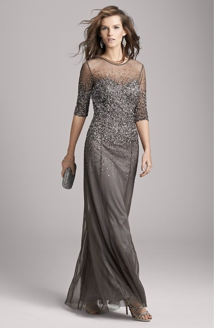 Adrianna Papell Sequin Beaded Dress Image 8