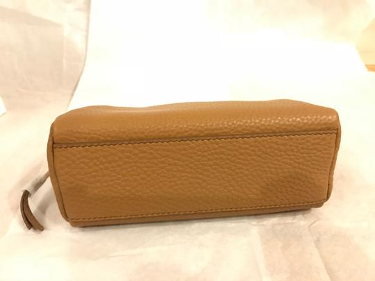 Prada Wallet Cosmetic Pouch Saffiano SAND Clutch Image 3