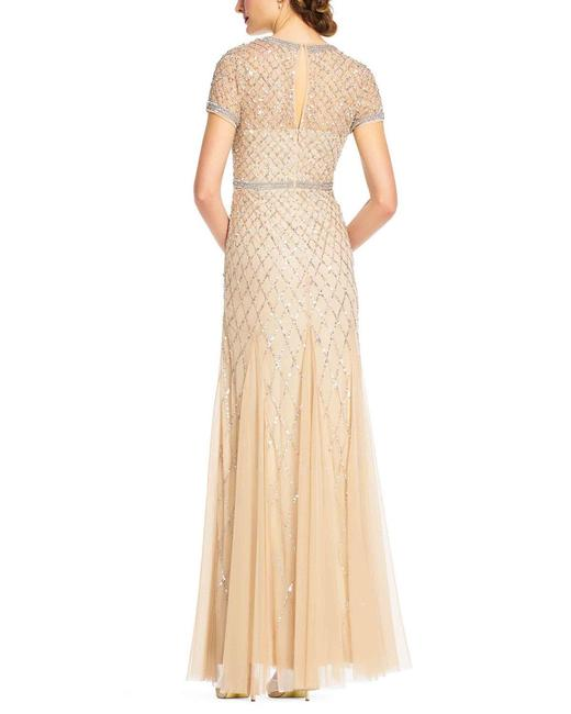 Adrianna Papell Beaded Embellished Sequin Dress Image 1