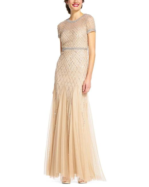 Adrianna Papell Beaded Embellished Sequin Dress Image 2