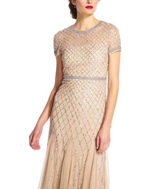 Adrianna Papell Beaded Embellished Sequin Dress Image 3