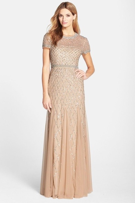 Adrianna Papell Beaded Embellished Sequin Dress Image 4