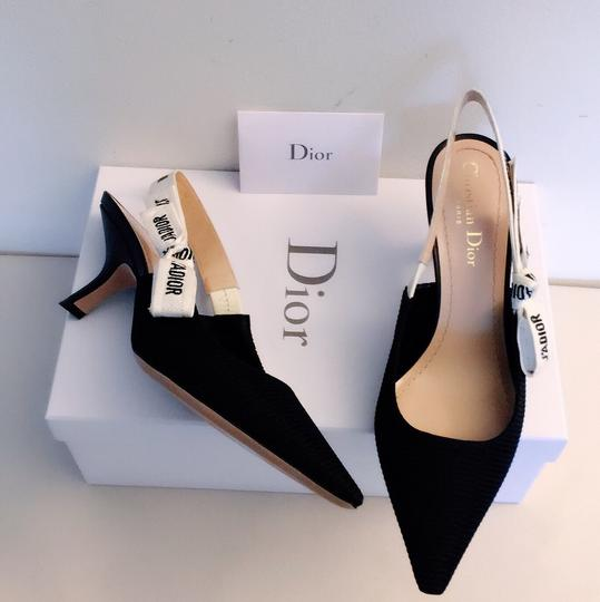 Dior Black and White Pumps Image 5